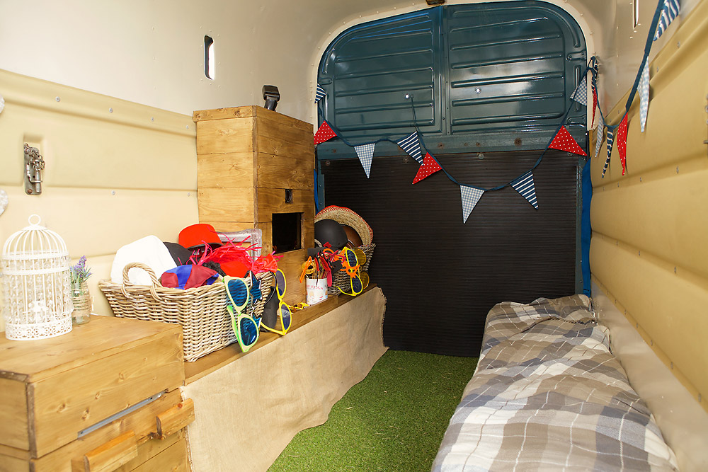Interior of Horse Box Photo Booth